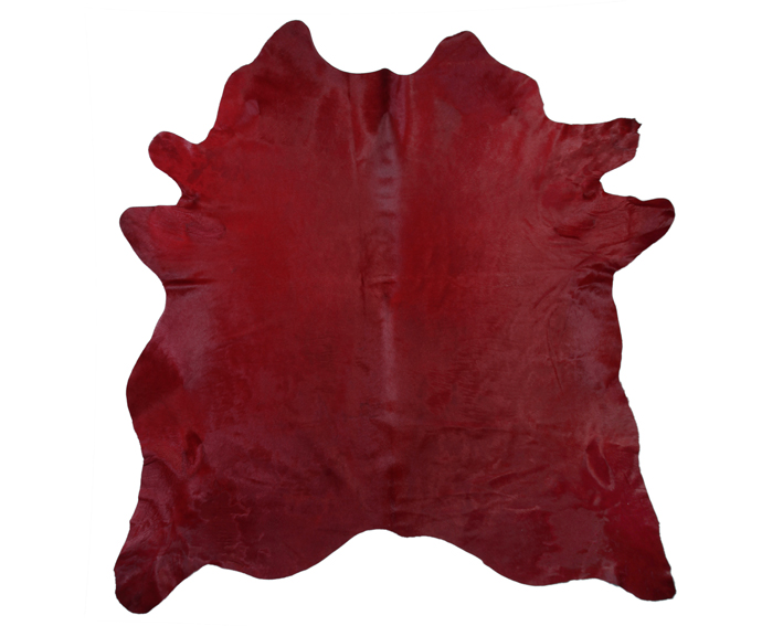 dark red cow hide